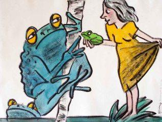 Es gibt keine Prinzen. Du solltest jetzt mit dem Frosch zufriedensein.