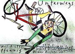 """Plakat Wolf-Dieter Pfennig """"Unterwegs"""""""