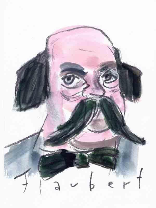 Flaubert, Gustave. Portrait von Wolf-Dieter Pfennig.