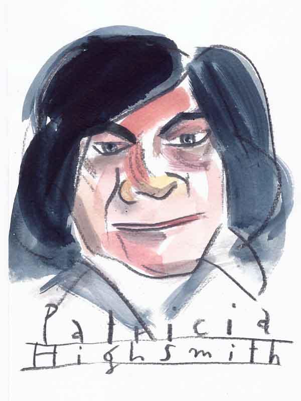 Patricia Highsmith. Portrait von Wolf-Dieter Pfennig.