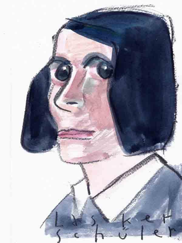 Lasker-Schüler, Else. Portrait von Wolf-Dieter Pfennig.