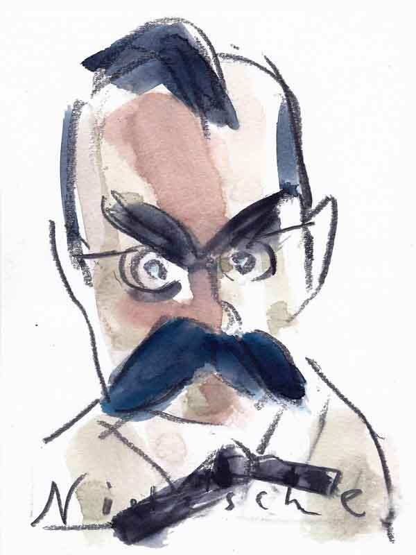 Friedrich Nietzsche, Portrait von Wolf-Dieter Pfennig.