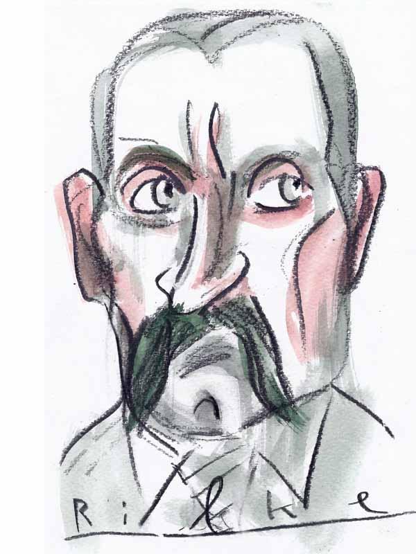 Rilke, Rainer-Maria. Portrait von Wolf-Dieter Pfennig.