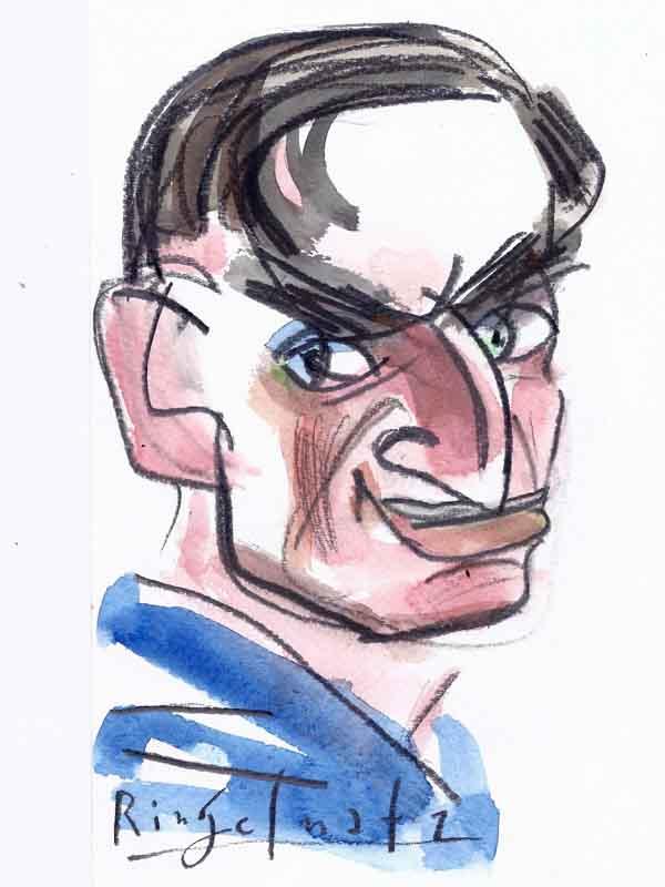 Ringelnatz, Joachim. Portrait von Wolf-Dieter Pfennig.