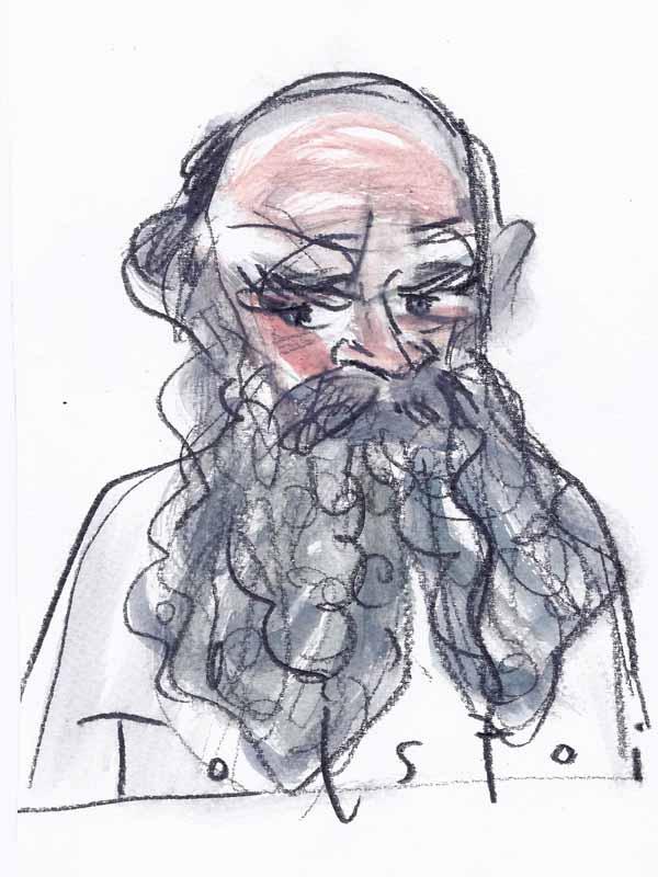 Tolstoi, Leo. Portrait von Wolf-Dieter Pfennig