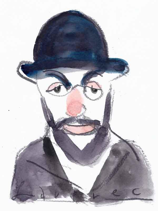Henri de Toulouse-Lautrec, Portrait von Wolf-Dieter Pfennig.