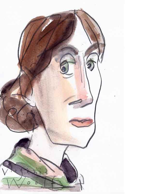 Portrait Woolf, Adeline-Virginia von Wolf Dieter Pfennig.
