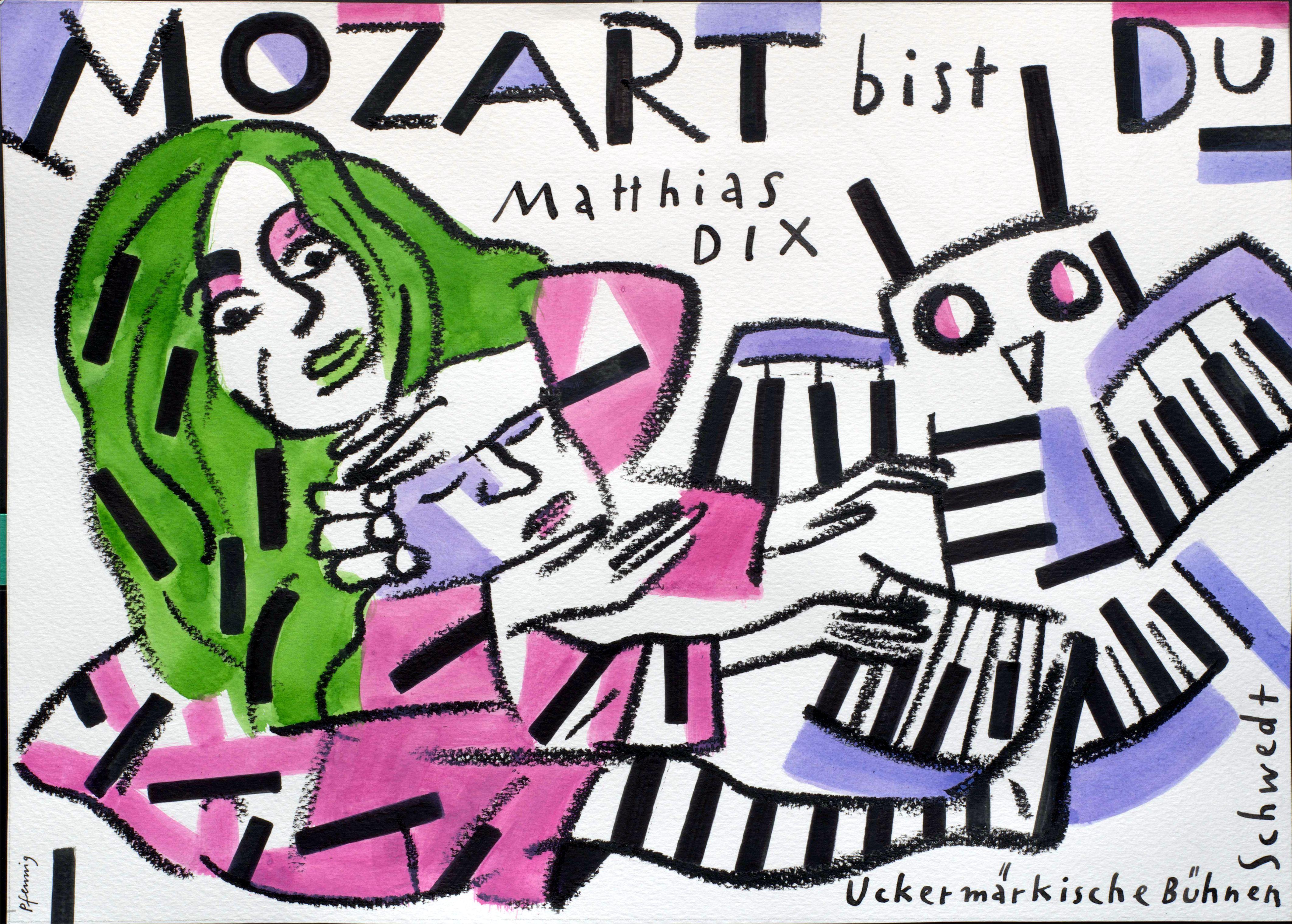 """Wolf Dieter Pfennig: Plakat """"Mozart Bist Du"""""""
