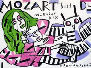 """Wolf Dieter Pfennig: Plakat """"Mozart BistDu"""""""