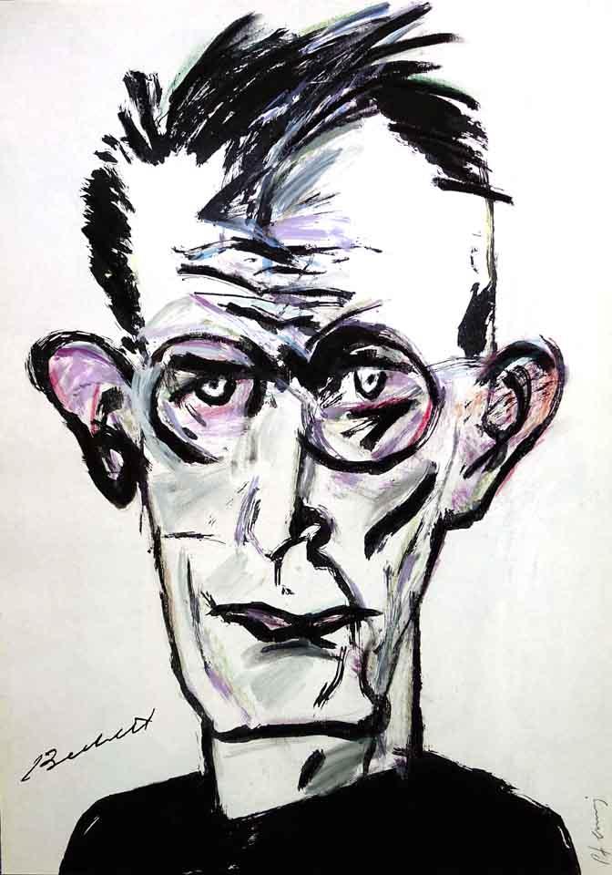 Beckett-Portrait-von-Wolf-Dieter-Pfennig