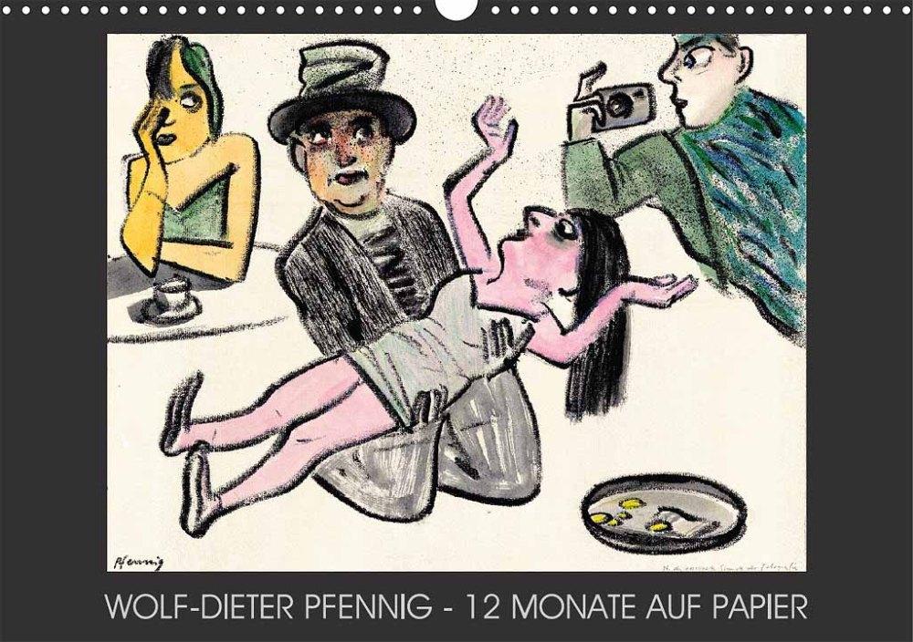 Wolf-Dieter-Pfennig-Kalender-12-Monate-auf-Papier