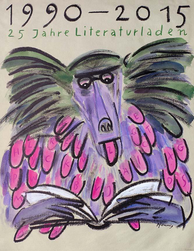 Wolf-Dieter-Pfennig-Plakat-Literaturladen