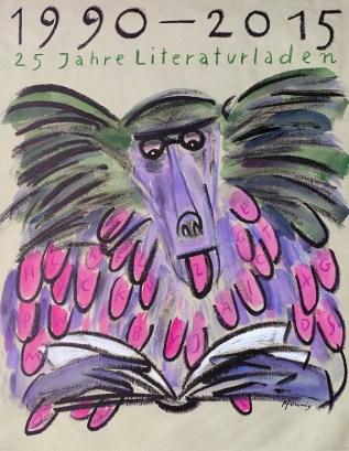 """Wolf-Dieter Pfennig: Plakat """"Literaturladen"""""""