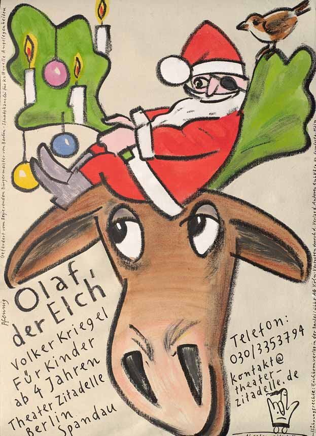 """Wolf-Dieter Pfennig: Plakat """"Olaf der Elch"""""""