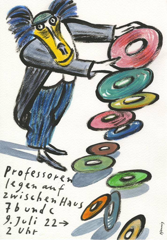 Wolf-Dieter Pfennig: Plakat Professoren legen auf 2016