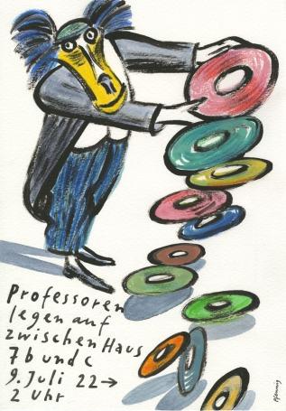 """Wolf-Dieter Pfennig: Plakat """"Professoren legen auf""""(2016)"""
