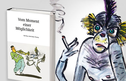 Vom Moment einer Möglichkeit 11 Geschichten von Olaf Stoy, 39 Bilder von Wolf-Dieter Pfennig 132 Seiten, Edition Handkoffer, 2020 - 15 Euro